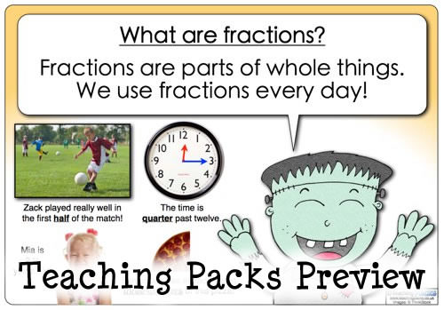 the thumbnails below to view samples of resources from The Fractions ...