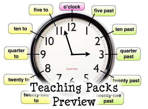 Below to view samples of resources from the telling the time pack