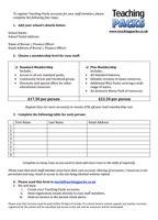 School Membership Form