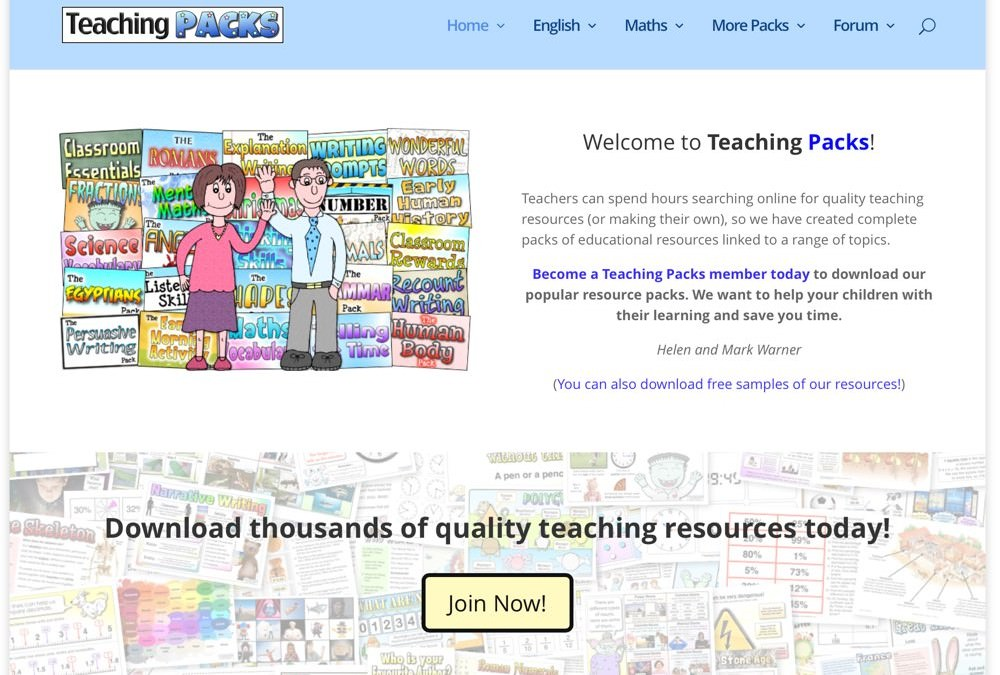 Teaching Packs – A New Look for 2016!