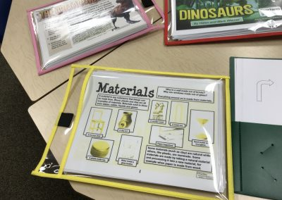 The Materials and Dinosaurs Packs (sent by Janet)