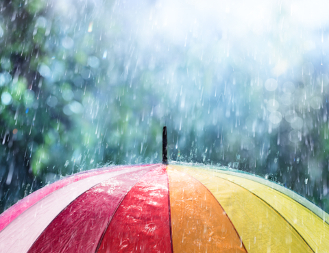 Underneath the Rainbow Umbrella