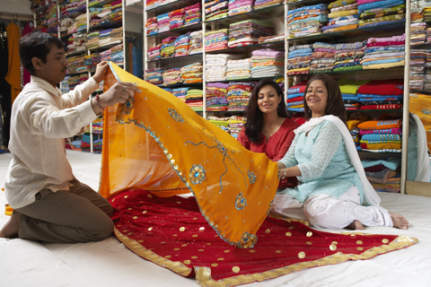 Shopping for a Sari