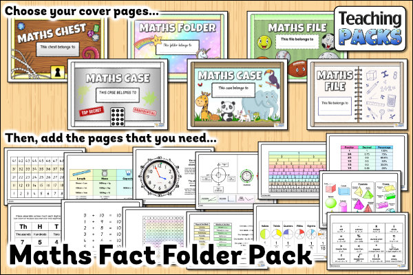 The Maths Fact Folder Pack